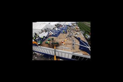 Damage at Cheltenham race course